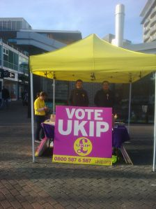 UKIP stall Feltham by election 2011
