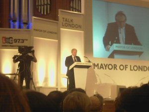 Boris Johnson at Talk London event