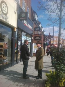 Nigel Farage in Ruislip 27th April 2012