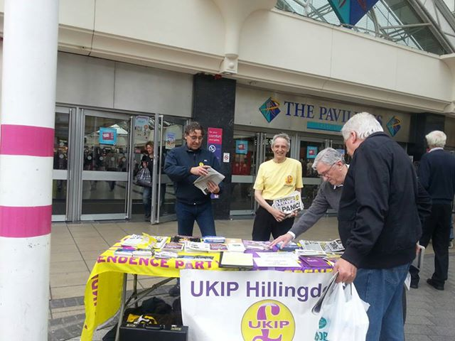 Uxbridge street stall May 2013