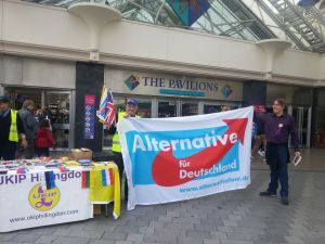 Uxbridge street stall Oct 2013 AFD flag