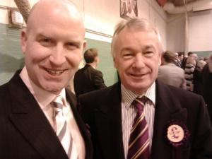 Paul Nuttall with Richard Elvin