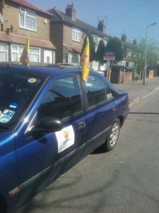 Car kitted out for campaigning