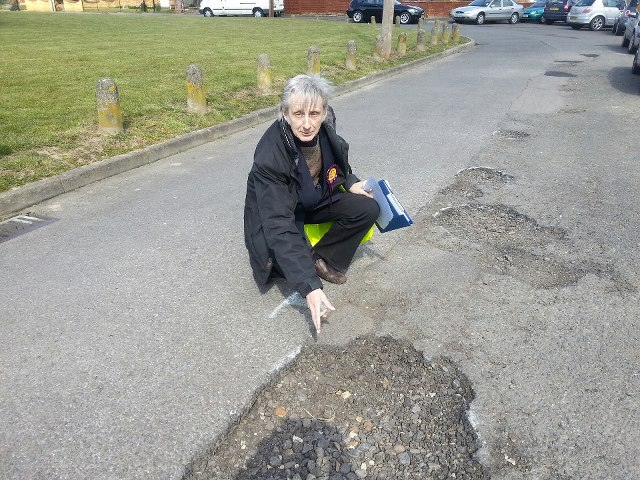 Geoff Courtenay potholes