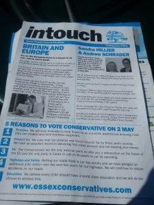 Tory Essex leaflet