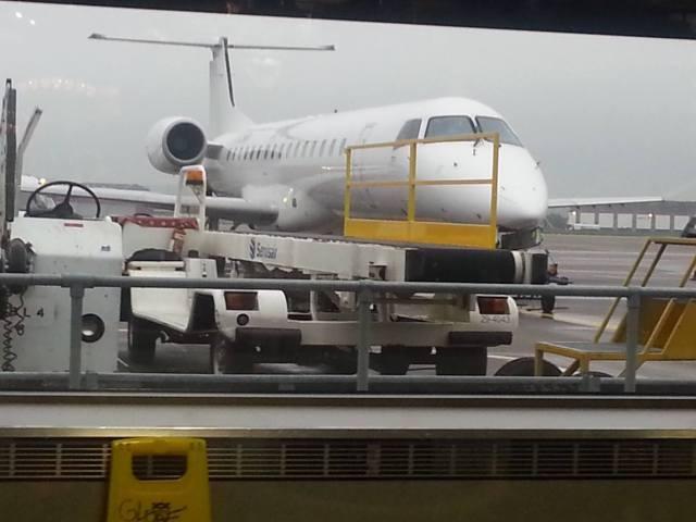 Aberdeen Airport jet