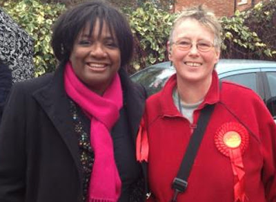 Margaret Burke with Diane Abbott