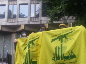 Al Quds 2014 - Ladies with HB flags