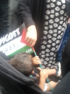 Al Quds 2014 - Toddler with flag