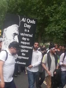 Al Quds 2014 - Khomeini banner
