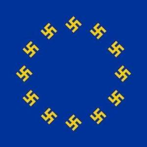 EU flag swastikas