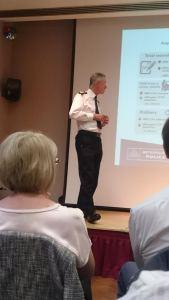 Hogan Howe presenting